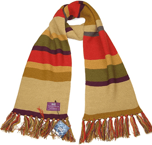 an image of a doctor who scarf inspired by the one worn by the fourth doctor tom baker