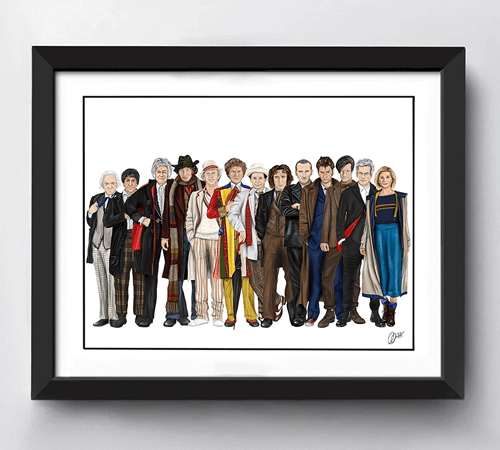 an image of a doctor who art print