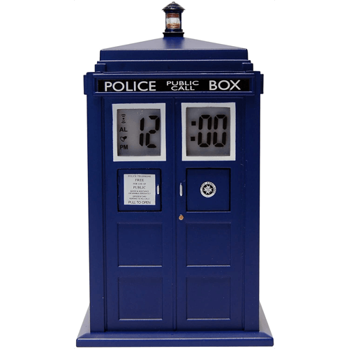 an image of a doctor who tardis alarm clock