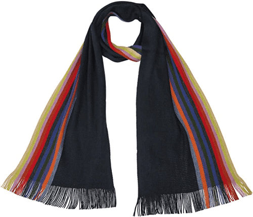 an image of a doctor who 13th doctor scarf inspired by the one worn by the thirteenth doctor jodie whittaker