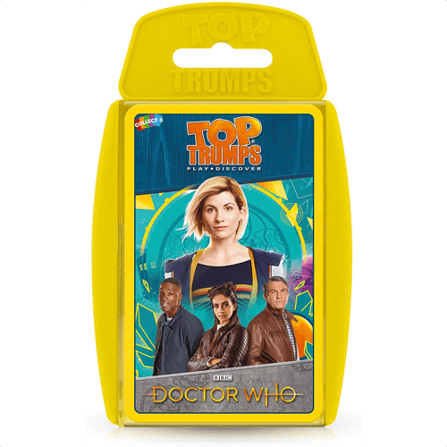 an image of a doctor who edition of the top trumps card game - one of our picks of dr who gifts
