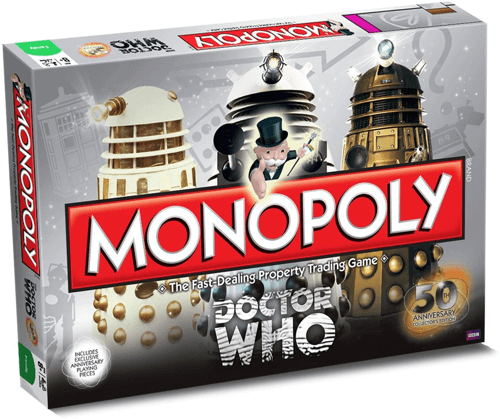 an image of a 50th anniversary collectors edition doctor who monopoly game - one of our picks of doctor who presents