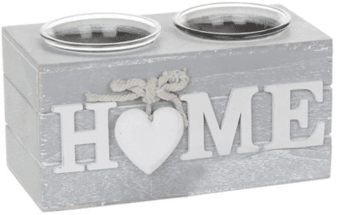 an image of a double tealight holder - one of our picks of new home gifts for her