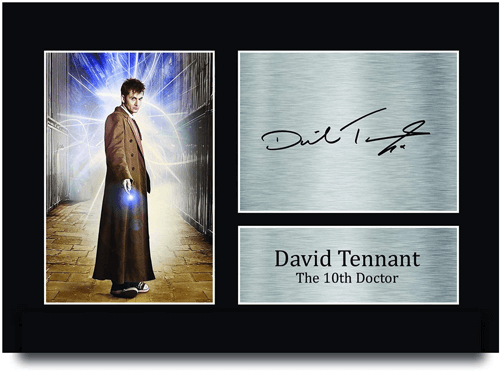 an image of a david tennant signed doctor who print