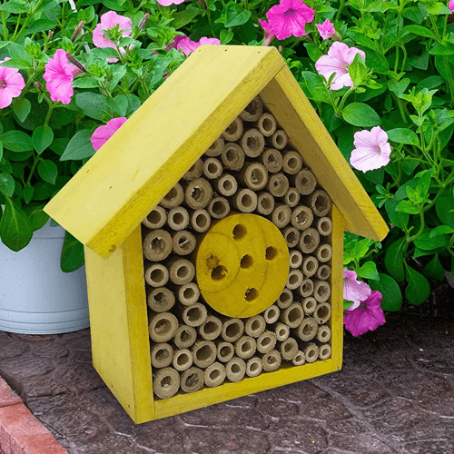 an image of an eco-friendly bee hotel - one of our ideas of honey bee gifts