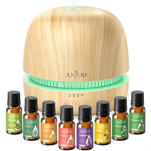 an image of an essential oil diffuser set - one of our yoga gift ideas