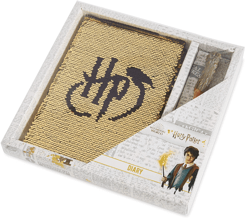 an image of a harry potter sequin notebook set
