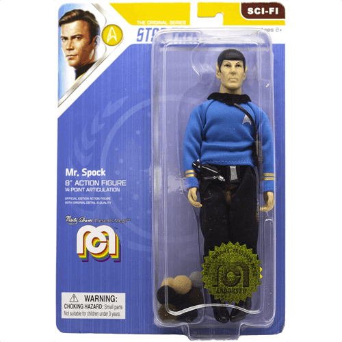 an image of a mr spock star trek action figure - one of our picks of star trek collectibles ideal as a gift for a birthday or christmas