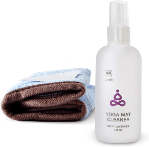an image of a natural yoga mat cleaner - ideal if you are looking for bikram yoga gifts or regular yoga presents