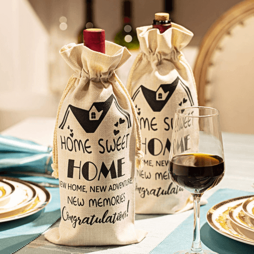 an image of housewarming wine bags - one of our picks of quirky housewarming gifts