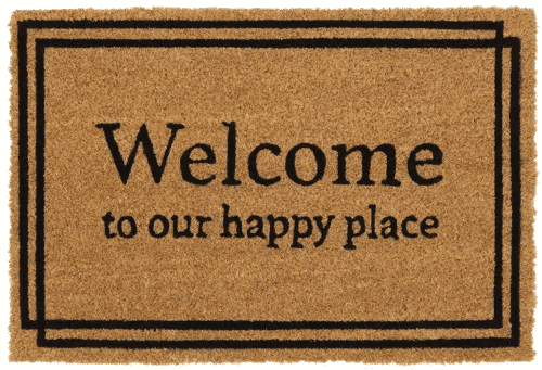 an image of a welcome door mat - just one of our ideas of new home presents
