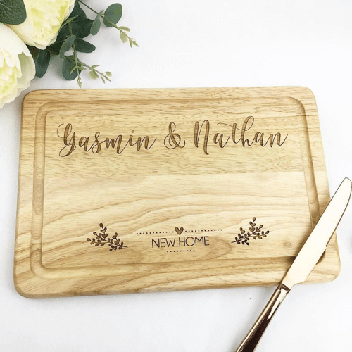 an image of a personalised chopping board