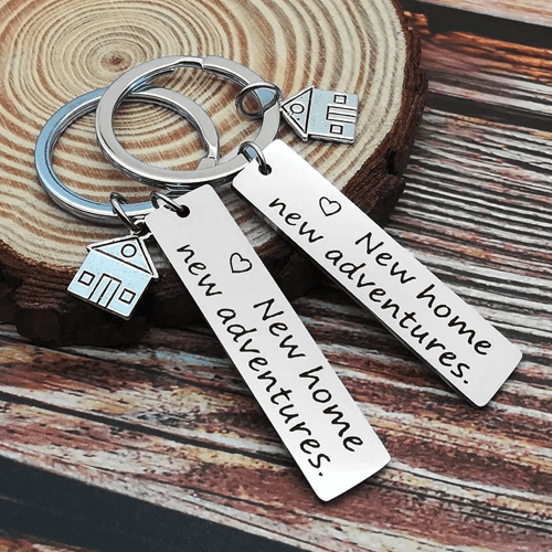 an image of a new home keyring set