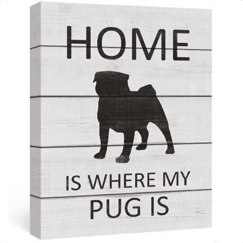 an image of a dog themed canvas wall art