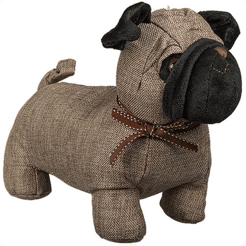 an image of a pug shaped door stopper