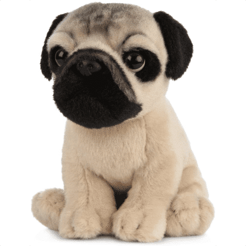 an image of a pug puppy plush toy - one of our picks of pug birthday gifts or for christmas