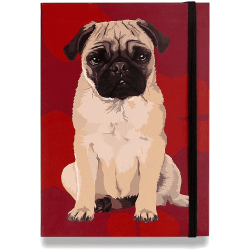 an image of a dog themed pocket notebook