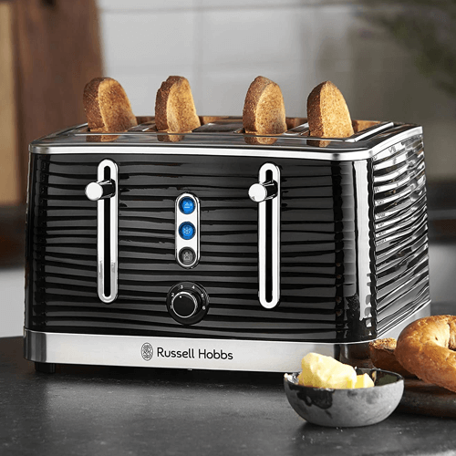 an image of a russell hobbs four slice toaster - one of our picks of new home gifts for couples