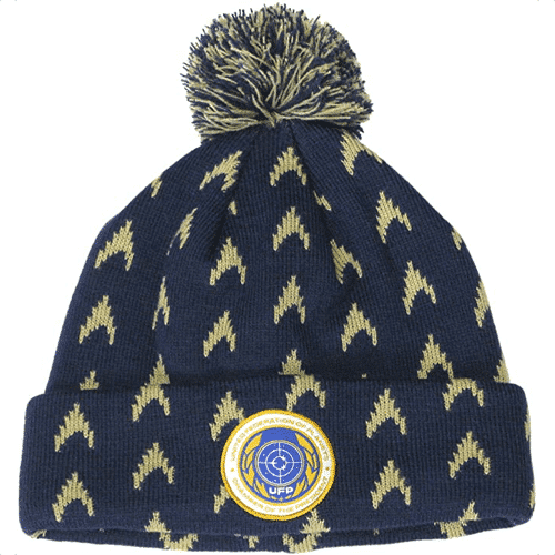 an image of a star trek starfleet academy beanie hat