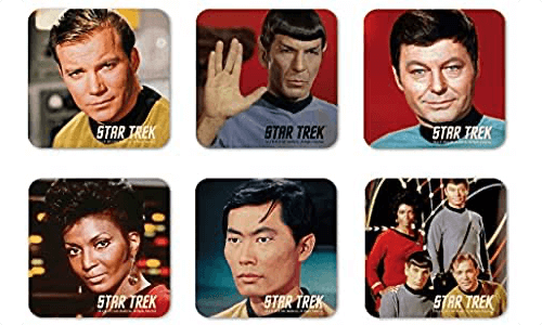 an image of a set of six star trek coasters