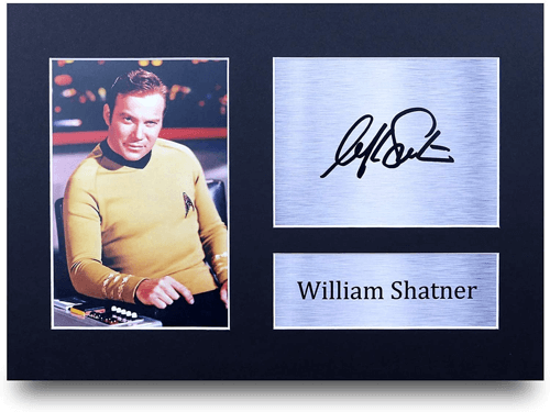 an image of a william shatner a4 printed autograph
