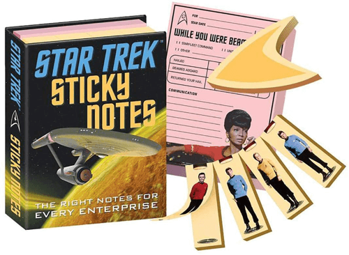 an image of a star trek sticky notes book