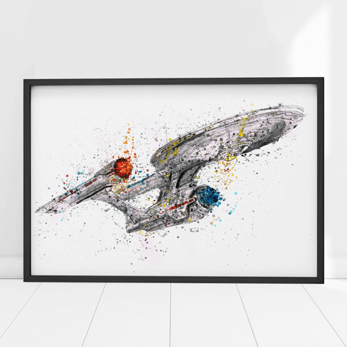 an image of a star trek uss enterprise print