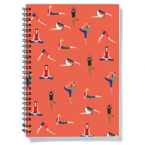 an image of a yoga notebook - one of our picks of yoga christmas gifts or birthday gifts