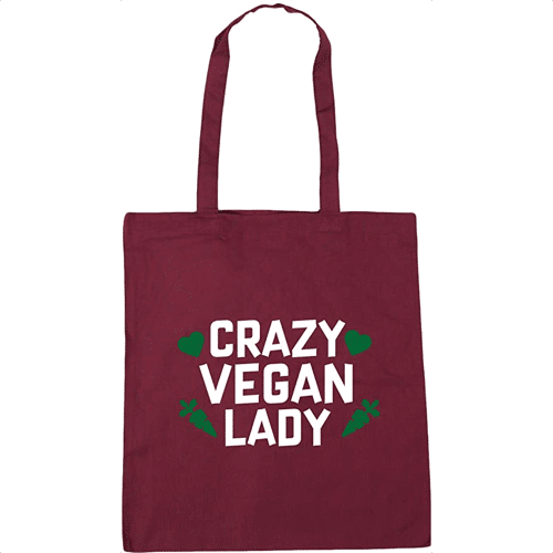 an image of a vegan tote bag - one of our ideas for vegan presents