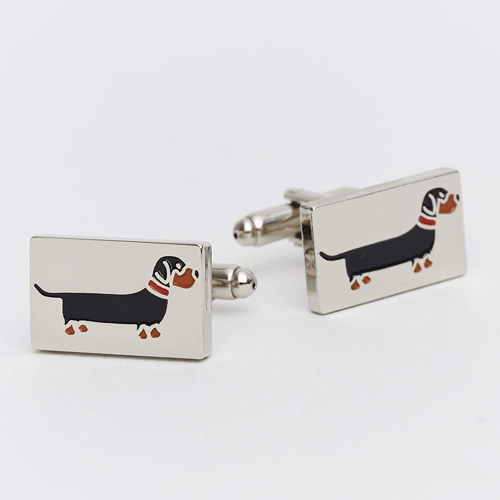 an image of a dachshund cufflinks - one of our ideas of dachshund gifts for him