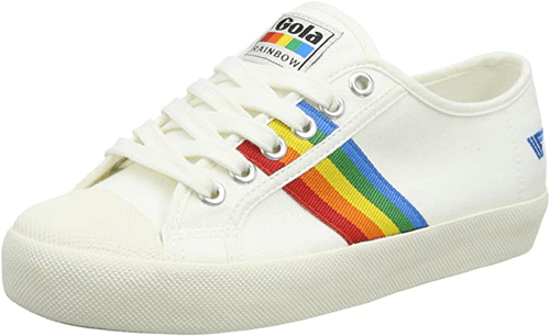 an image of gola rainbow trainers for women