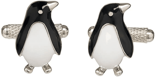 an image of penguin cufflinks - one of our ideas of cool penguin gifts for him
