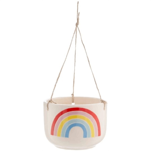 an image of a rainbow hanging planter