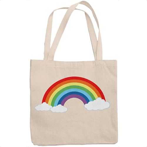 an image of a rainbow tote bag gift idea