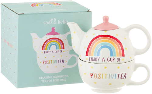 an image of a rainbow teapot and cup gift idea
