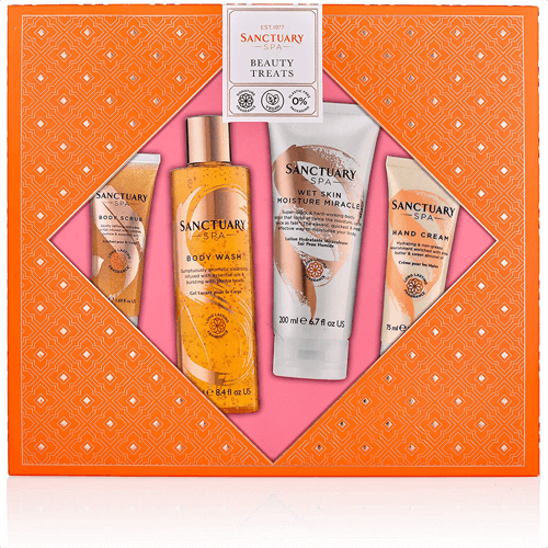 an image of a vegan gift box packed with spa items