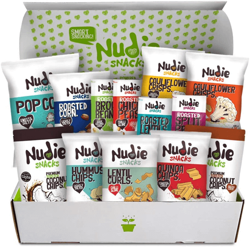 an image of a snack hamper - one of our ideas for vegan food gifts