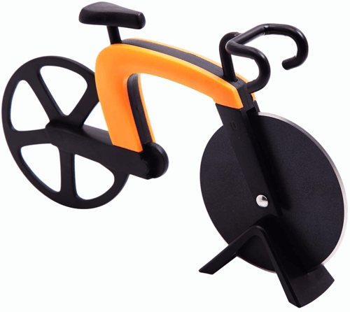 an image of a bike shaped pizza cutter