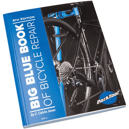 an image of the big blue book of bicycle repair