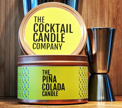 an image of a pina colada candle - one of our ideas of cocktail gifts for her