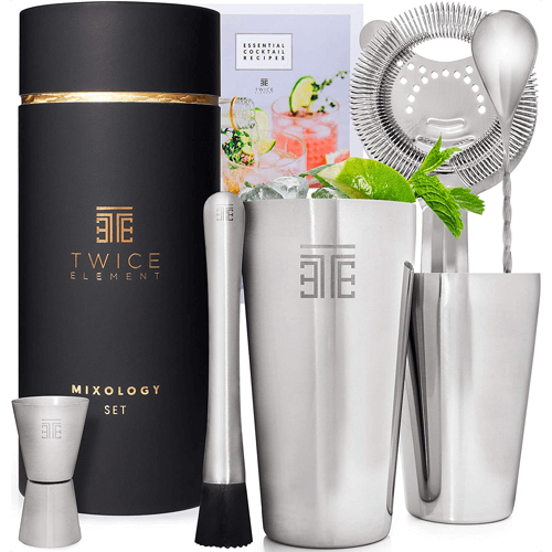 an image of a cocktail making set - one of our ideas of cocktail making gifts