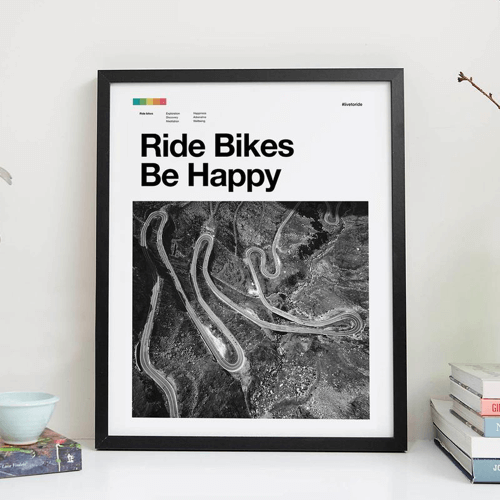 an image of a cycling art print