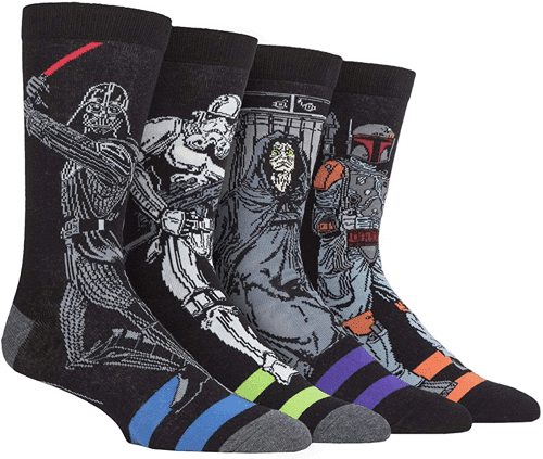 an image of a four pack of star wars socks