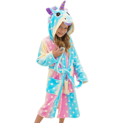 an image of a hooded bathrobe gift idea for girls
