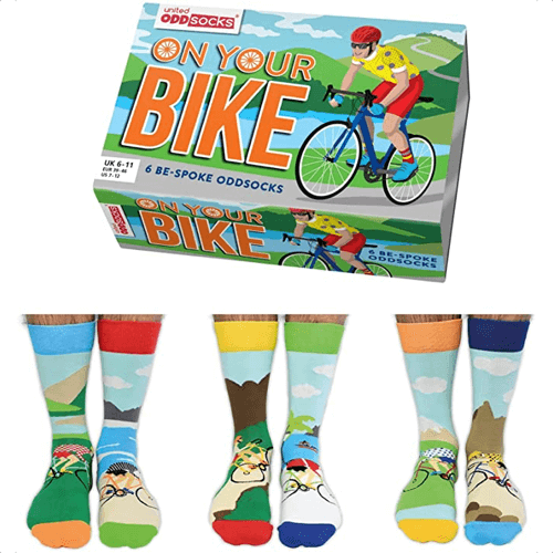 an image of on your bike oddsocks