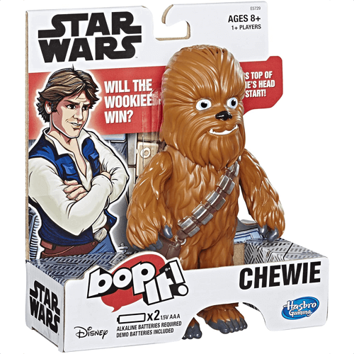 an image of a special chewie edition of the popular bop it game