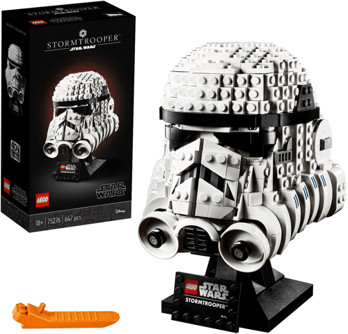 an image of a lego star wars stormtrooper helmet - one of our picks of star wars gift ideas