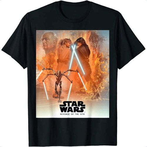 an image of a revenge of the sith t-shirt gift idea