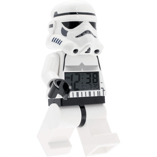 an image of a lego stormtrooper clock gift idea