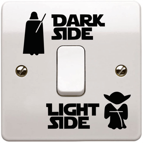 an image of a star wars sticker for a light switch